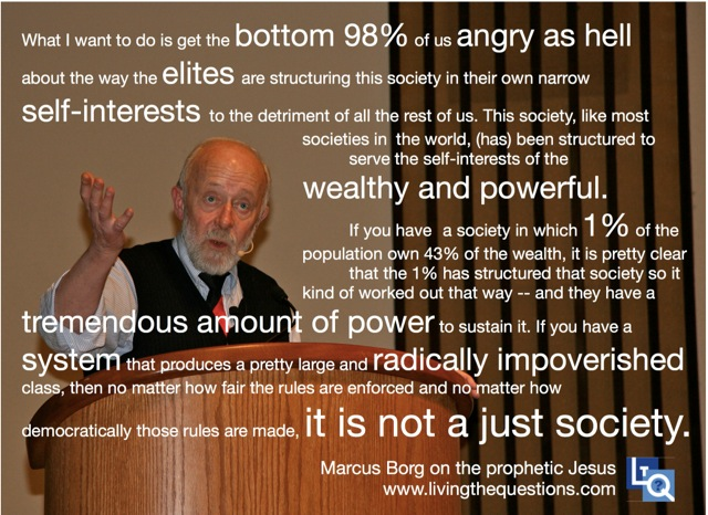 Marcus borg on systemic injustice living the questions - We are the borg quote ...