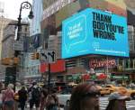 """Answers in Genesis"" Times Square Billboard"